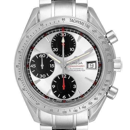 Photo of Omega Speedmaster Day-Date Panda Dial Mens Watch 3211.31.00 Box Card