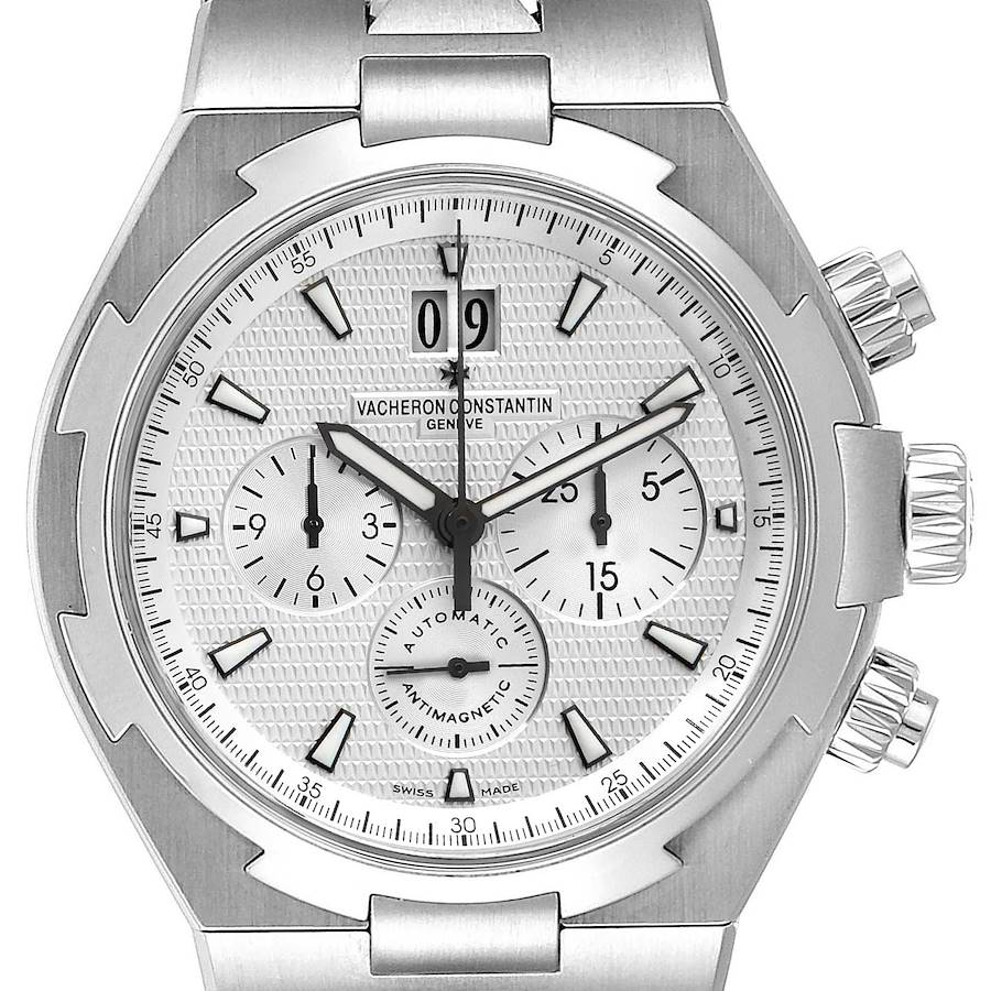 Vacheron Constantin Overseas Silver Dial Chronograph Mens Watch 49150 SwissWatchExpo