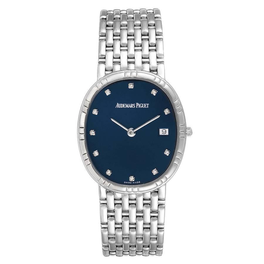 Audemars Piguet White Gold Blue Diamond Dial Unisex Watch SwissWatchExpo