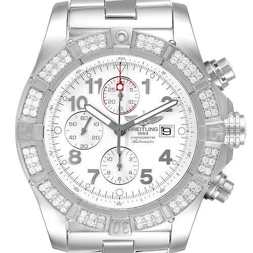 Photo of Breitling Super Avenger Chronograph Diamond Steel Mens Watch A13370