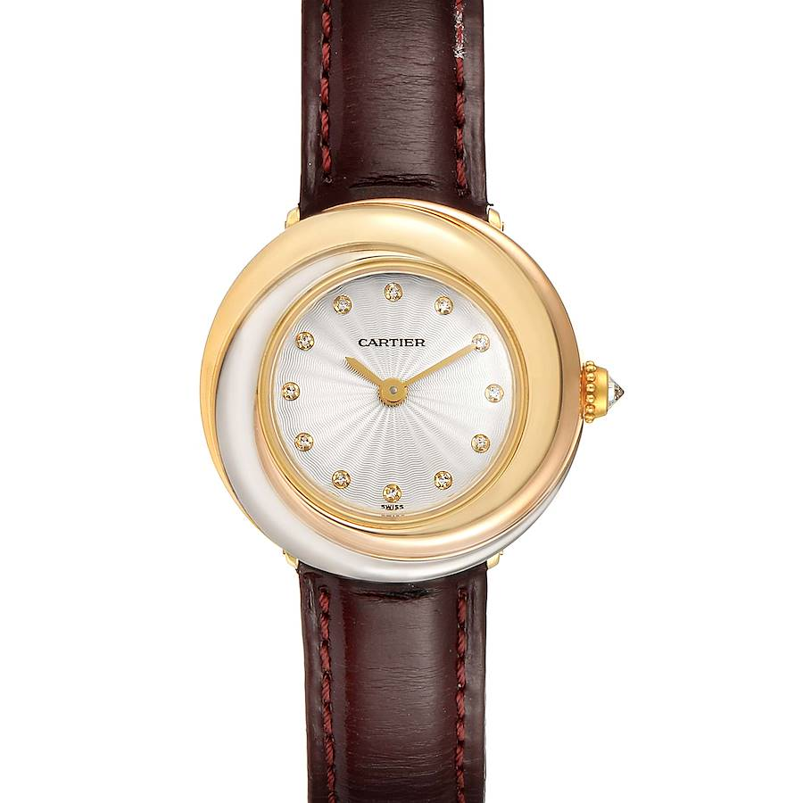 Cartier Trinity White Yellow Rose Gold Diamond Ladies Watch W200246 Box SwissWatchExpo