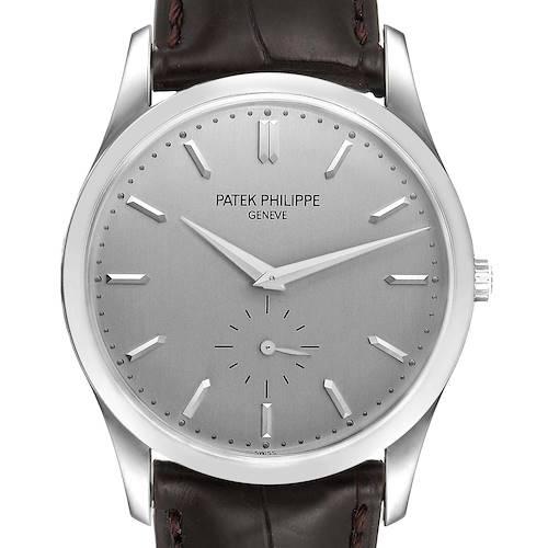Photo of Patek Philippe Calatrava 18k White Gold Mechanical Mens Watch 5196
