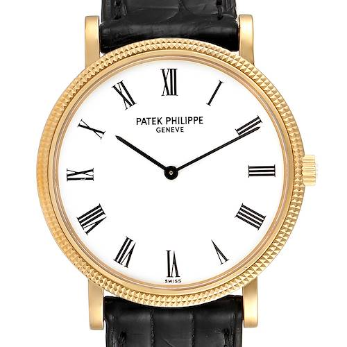 Photo of Patek Philippe Calatrava 18k Yellow Gold Mens Watch 5120 Box