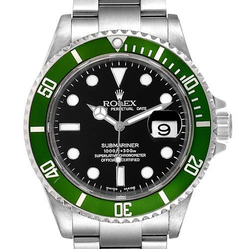 Photo of Rolex Submariner 50th Anniversary Green Kermit Mens Watch 16610LV Box
