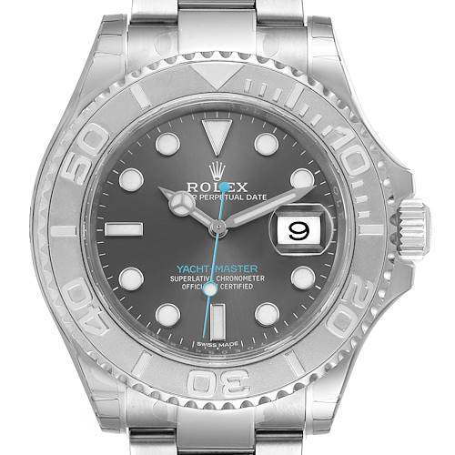 Photo of Rolex Yachtmaster Rhodium Dial Steel Platinum Mens Watch 116622 Unworn