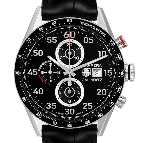 Photo of Tag Heuer Carrera Black Dial Chronograph Mens Watch CAR2A10 Box