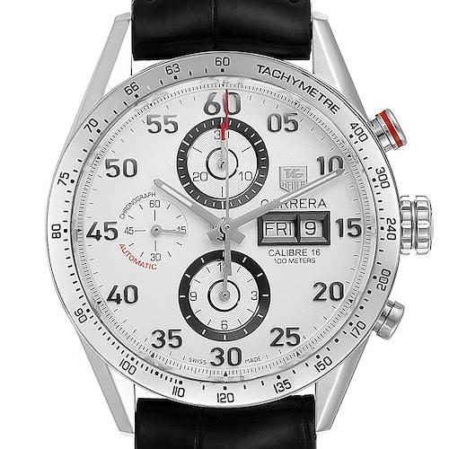 Photo of Tag Heuer Carrera Day-Date Silver Dial Mens Watch CV2A11