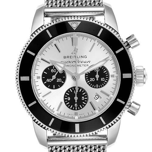 Photo of Breitling SuperOcean Heritage II B01 Silver Dial Steel Mens Watch AB0162