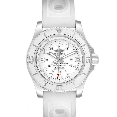 Photo of Breitling Superocean II 36 Hurricane White Dial Ladies Watch A17312