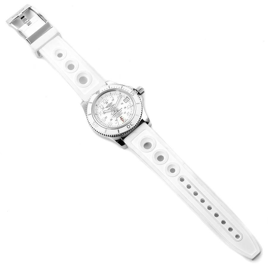 Breitling Superocean II 36 Hurricane White Dial Ladies Watch A17312 SwissWatchExpo