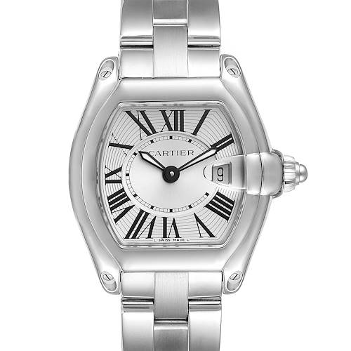 Photo of Cartier Roadster Silver Dial Small Steel Ladies Watch W62016V3