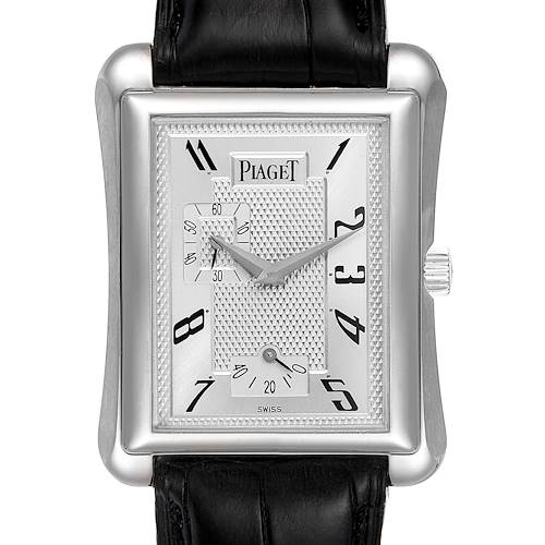 Photo of Piaget Black Tie Emperador Coussin 18K White Gold Mens Watch 18900