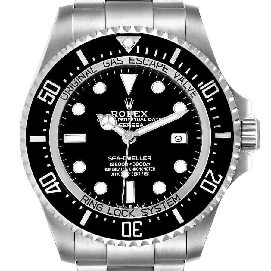 Rolex Seadweller Deepsea 44 Black Dial Steel Mens Watch 126660 Box Card SwissWatchExpo