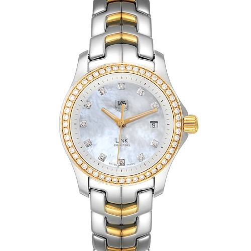 Photo of TAG Heuer Link MOP Steel Yellow Gold Diamond Ladies Watch WJF1354