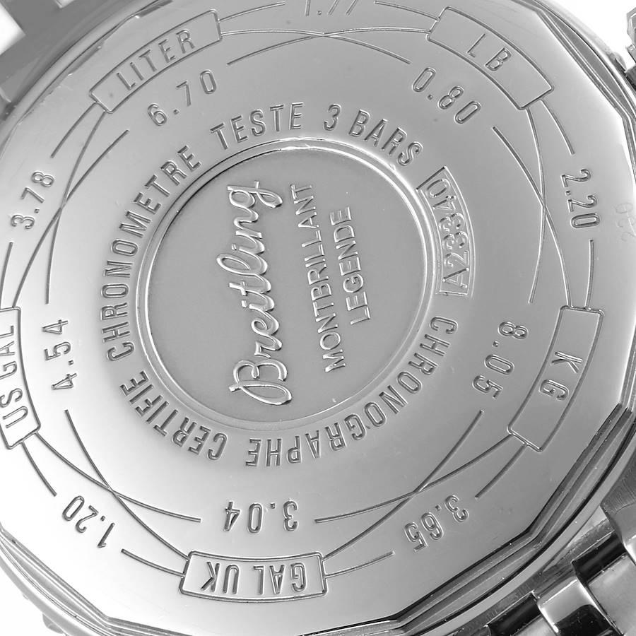 Breitling Montbrillant Legende Stainless Steel Mens Watch A23340 SwissWatchExpo
