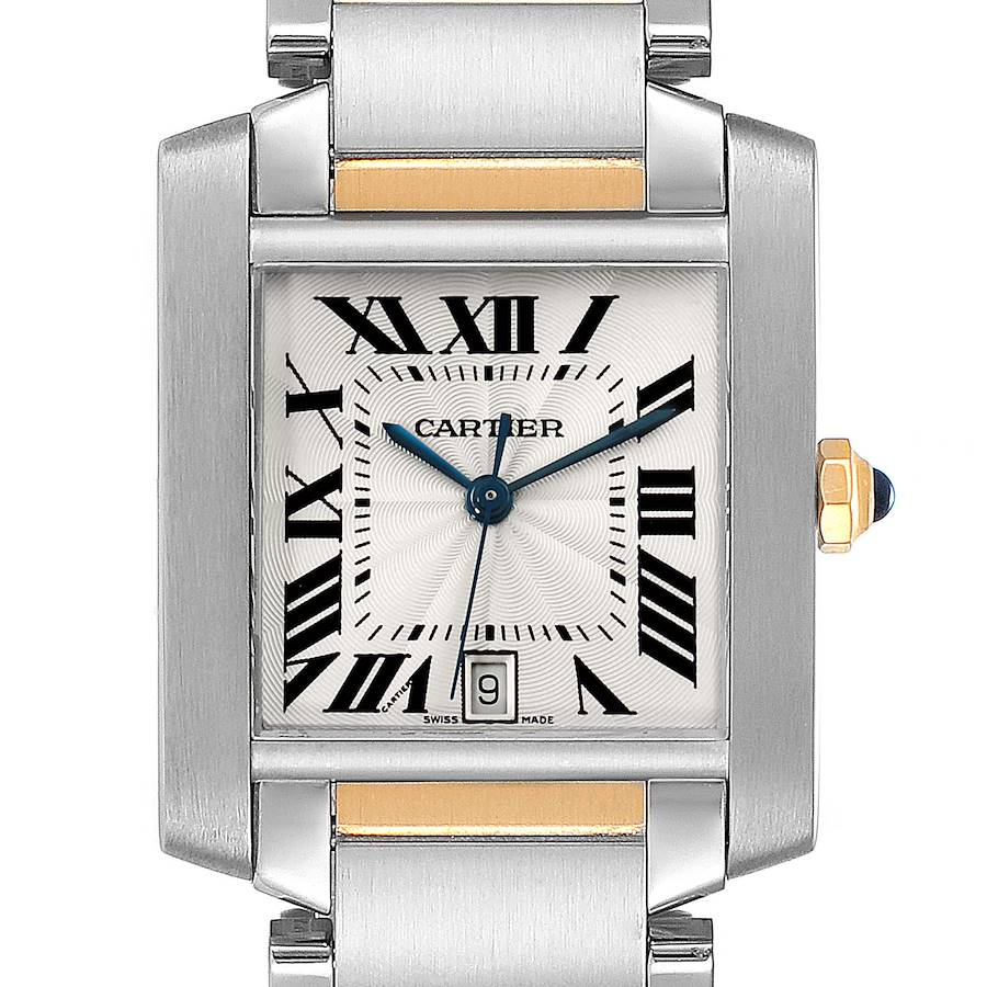 Cartier Tank Francaise Steel Yellow Gold Large Unisex Watch W51005Q4 SwissWatchExpo