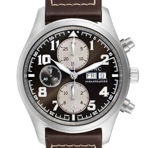 Photo of IWC Spitfire Pilot Saint Exupery Limited Edition Watch IW371709 Box Papers