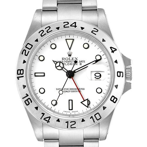 Photo of Rolex Explorer II White Dial Automatic Steel Mens Watch 16570
