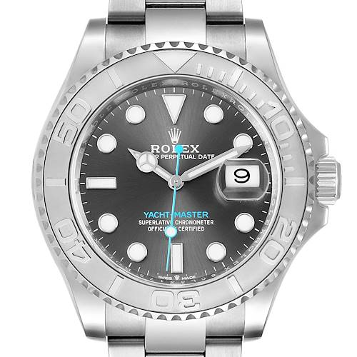 Photo of Rolex Yachtmaster Steel Platinum Rhodium Dial Mens Watch 126622 Unworn