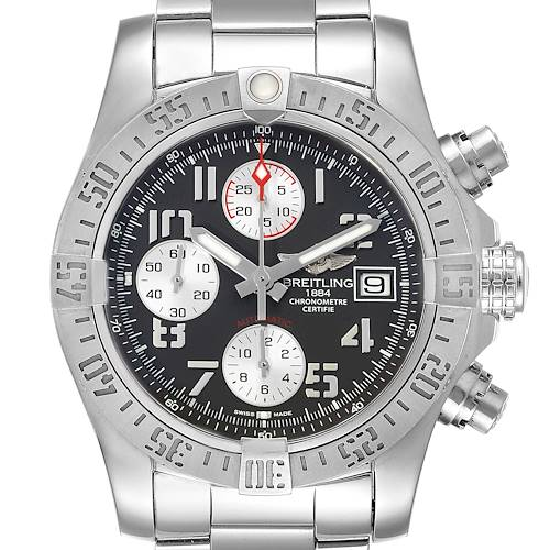 Photo of Breitling Super Avenger Tungsten Gray Dial Steel Mens Watch A13381