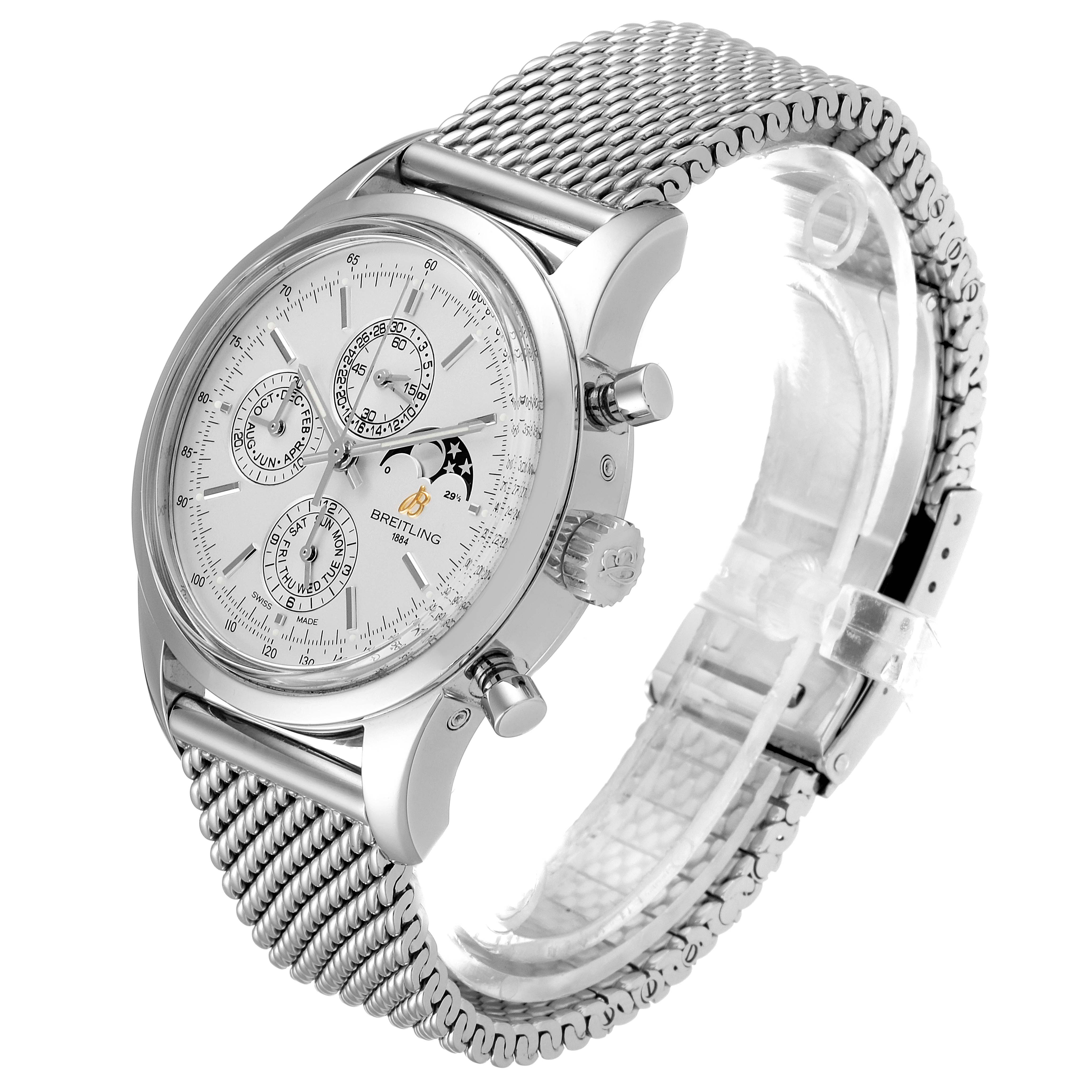 Breitling Transocean 1461 Perpetual Moonphase Watch A19310 Box Papers SwissWatchExpo
