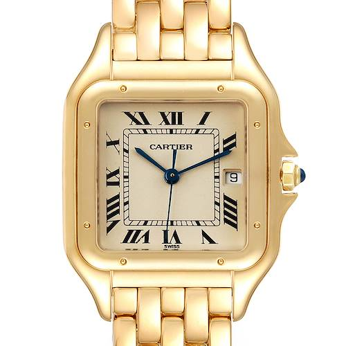 Photo of Cartier Panthere XL Blue Sapphire Yellow Gold Unisex Watch W25014B9