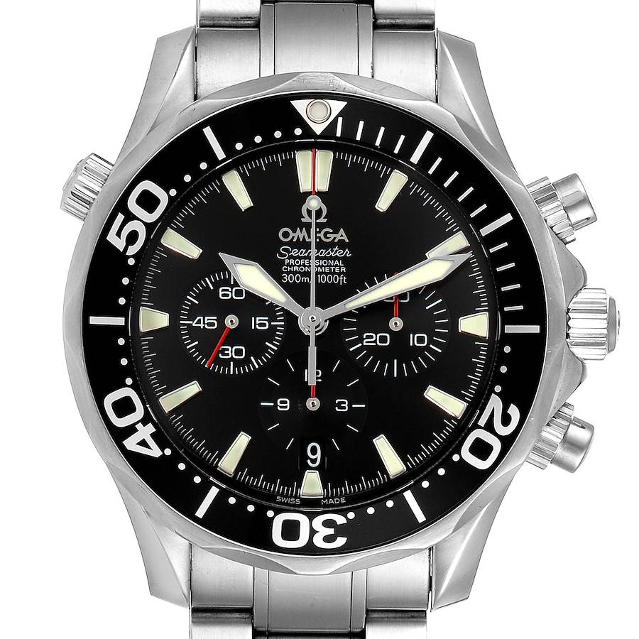 Omega Seamaster Chronograph Black Dial Watch 2594.52.00 SwissWatchExpo