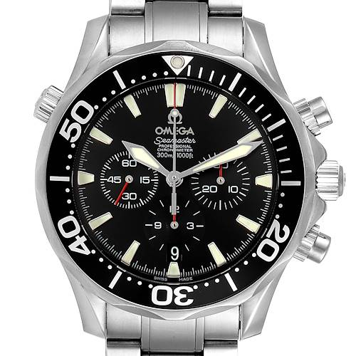 Photo of Omega Seamaster Chronograph Black Dial Watch 2594.52.00