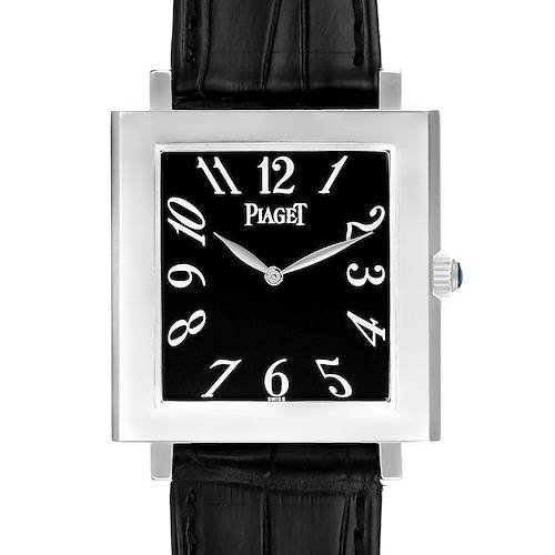Photo of Piaget Altiplano Ultra Thin 18K White Gold Black Dial Mens Watch 9930