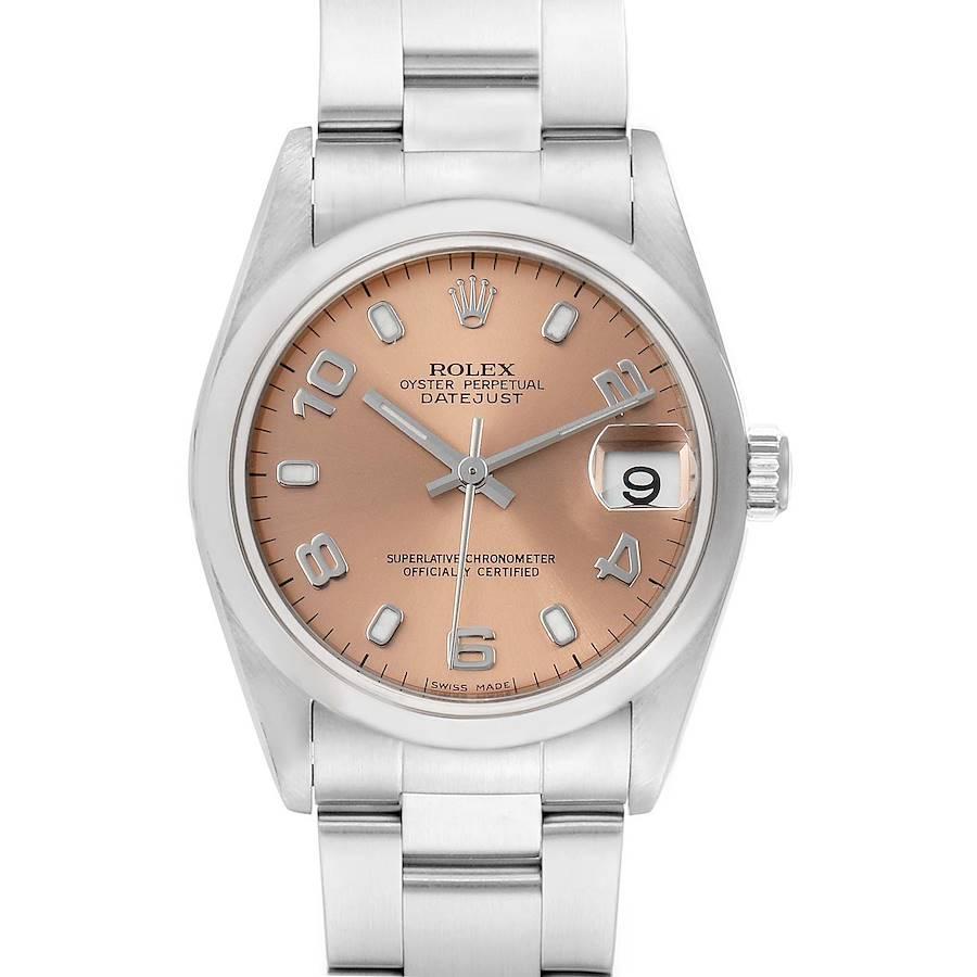 Rolex Datejust 31 Midsize Salmon Dial Steel Ladies Watch 78240 SwissWatchExpo