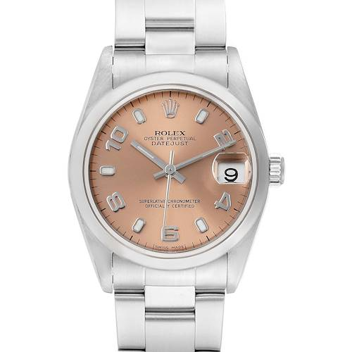 Photo of Rolex Datejust 31 Midsize Salmon Dial Steel Ladies Watch 78240