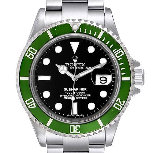 Photo of Rolex Submariner 50th Anniversary Green Kermit Steel Mens Watch 16610LV