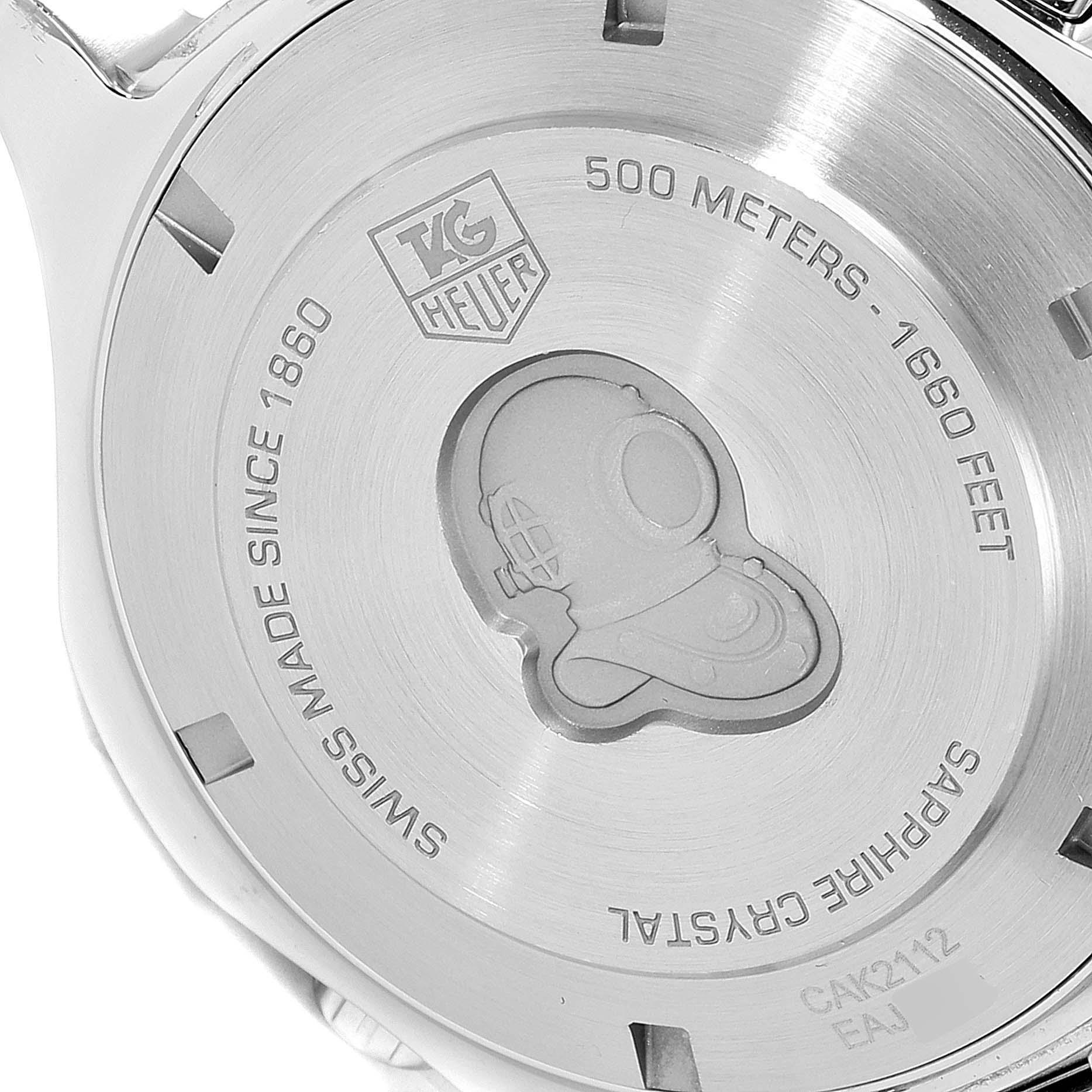 Tag Heuer Aquaracer Blue Dial Steel Mens Watch CAK2112 SwissWatchExpo