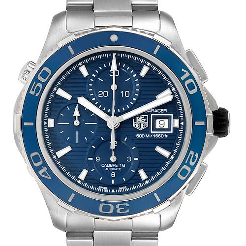 Photo of Tag Heuer Aquaracer Blue Dial Steel Mens Watch CAK2112