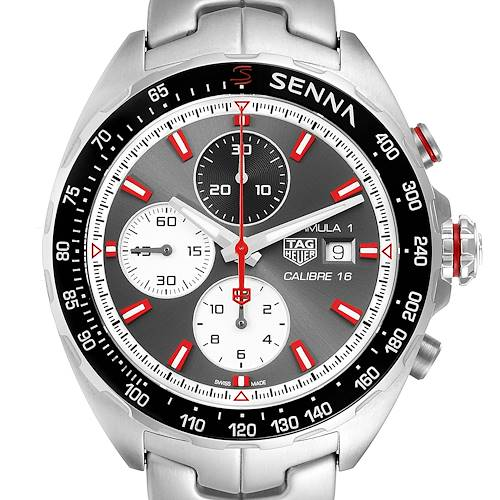 Photo of Tag Heuer Formula 1 Senna Eddition Chronograph Mens Watch CAZ2017 Box Card