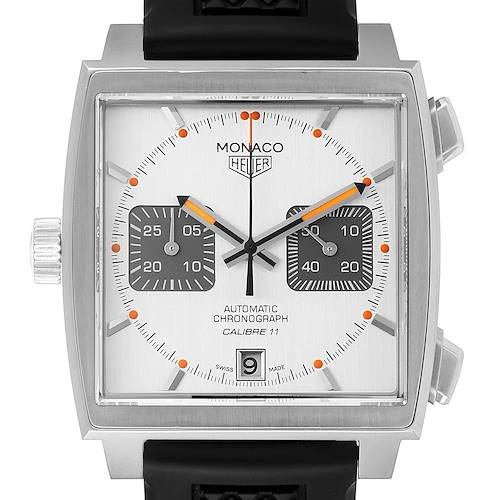 Photo of Tag Heuer Monaco Limited Production Steel Mens Watch CAW211C Box Papers