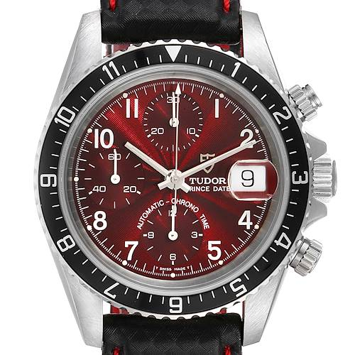 Photo of Tudor Tiger Woods Chronograph Sunburst Burgundy Dial Mens Watch 79270