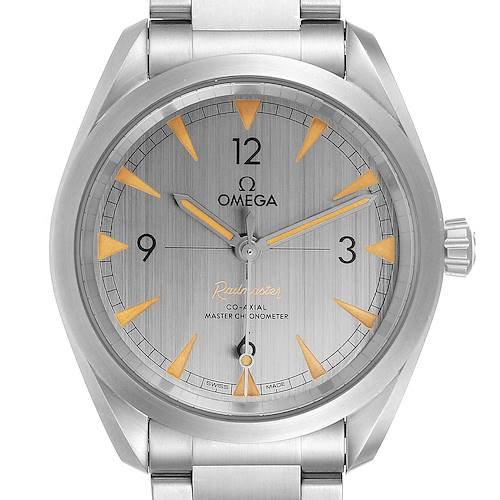 Photo of Omega Railmaster Chronometer Grey Dial Watch 220.10.40.20.06.001 Box Papers