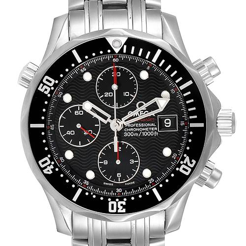 Photo of Omega Seamaster 300M Chronograph Black Dial Watch 213.30.42.40.01.001 Card