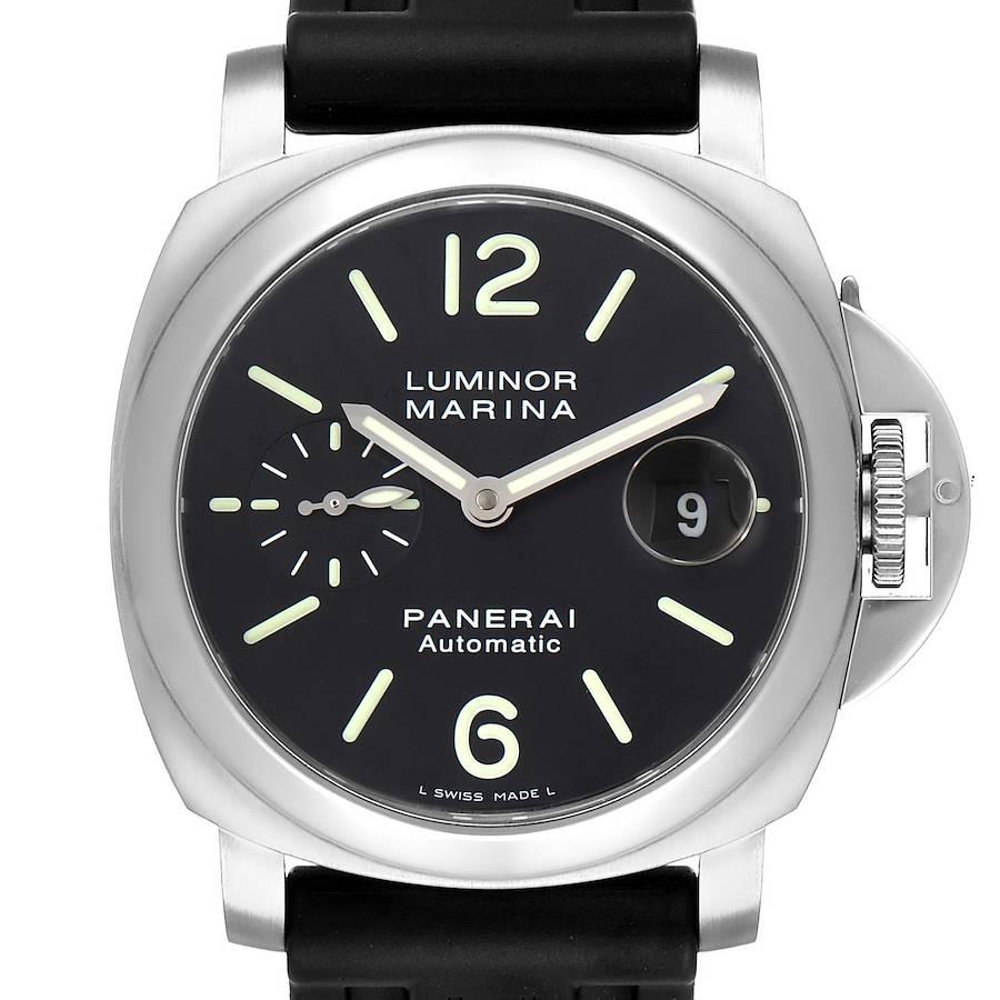 Panerai Luminor Marina Automatic 44mm Steel Mens Watch PAM00104 Box Paper SwissWatchExpo