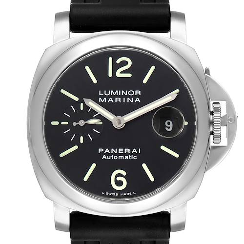 Photo of Panerai Luminor Marina Automatic 44mm Steel Mens Watch PAM00104 Box Paper