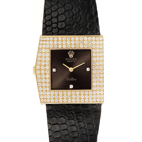 Photo of Rolex Cellini Midas Yellow Gold Slate Dial Diamond Vintage Watch 4031