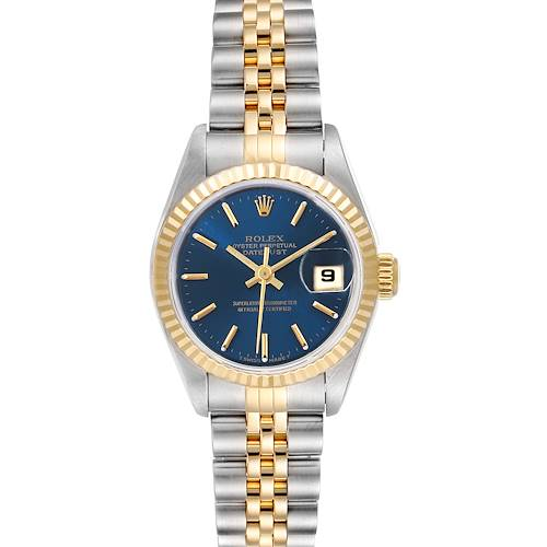 Photo of Rolex Datejust Steel Yellow Gold Blue Dial Ladies Watch 79173