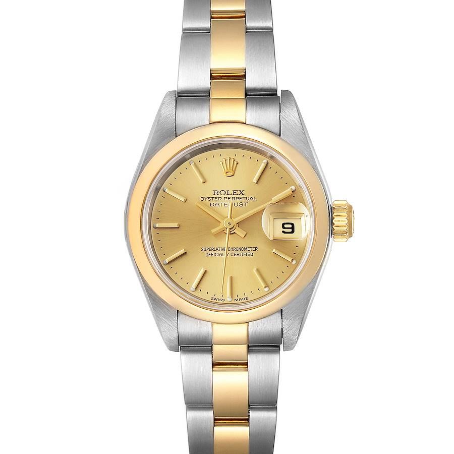Rolex Datejust Steel Yellow Gold Champagne Dial Ladies Watch 79163 SwissWatchExpo