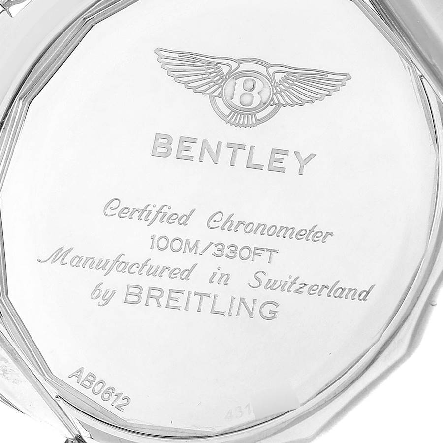 Breitling Bentley B06 Silver Dial Chronograph Watch AB0612 Box Papers SwissWatchExpo