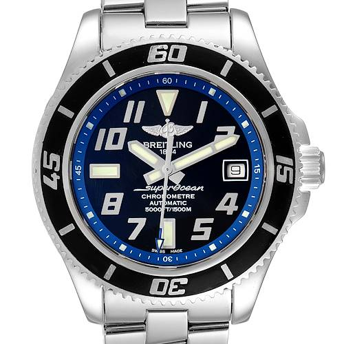 Photo of Breitling Superocean 42 Abyss Black Blue Dial Steel Mens Watch A17364