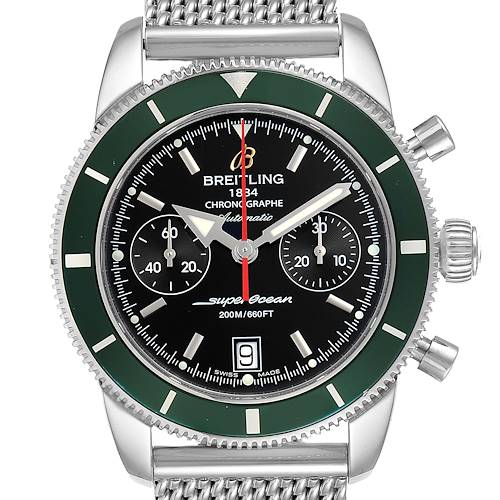 Photo of Breitling SuperOcean Heritage 44 Green Bezel Chronograph Watch A23370