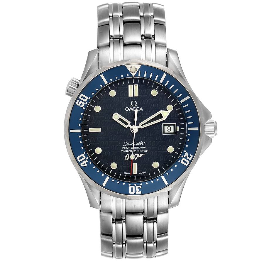 Omega Seamaster 40 Years James Bond Blue Dial Mens Watch 2537.80.00 SwissWatchExpo