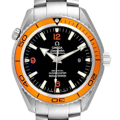 Photo of Omega Seamaster Planet Ocean XL Orange Bezel Mens Watch 2208.50.00