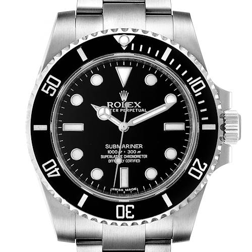 Photo of Rolex Submariner Ceramic Bezel Oyster Bracelet Steel Mens Watch 114060